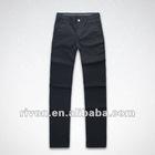 Washable black blend single pleat jean trousers