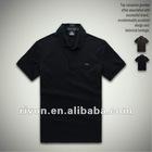 Custom sublimated purified cotton black bulk blank t-shirt