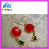 2012 fashion christmas tree earrings design for women