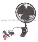 Oscillating 6'' or 8'' car fan