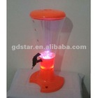 Led beverage dispenser,table top beer tower,beer tower 2.5 Liters with Ice Tube