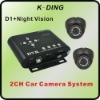 2CH Taxi Security Camera CCTV System with 2 CCD Cameras, Support 32G SD Card, Motion Detection, DVR Manufacturer