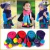 Cute Candy 6-Ball girl boy kids Knitting Wool scraf(#1968)