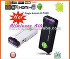 Smart Google Android 4.0 TV Box WIFI HD Player Mini PC MK802 Allwinner A10 4GB