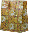 lovely flower design gift paper bag