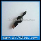 Retractable USB 2.0 Cable AM to Mini/Micro 5pin