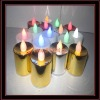 plastic led candle with electroplating