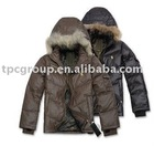 men down filled jackets with furs trims, feather jacket for men with hood and real fur,men down feather padded jacket,