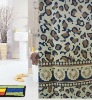 100% polyester shower curtains for hotel/home