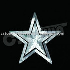 Silver star sequin motif