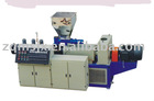 Conical twin-screw extruder for window profile