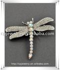 Silver Tone / Ab & Clear Rhinestones / Lead&nickel Compliant / Dragonfly Brooch