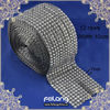 hematite pyramid mesh trims 10 yards for one roll