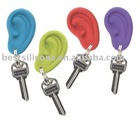 Ear shape silicone key chain