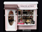 diy Miniature wood house ,dolls toy weeden house -European travel diary from the Brussels chocolate shop