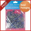 Retail packaging hot fix rhinestone - sapphire