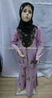 latest muslim small girl abayas children islamic clothing MA005