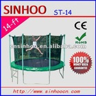 Kids Jumping 14 FT trampoline with safety enclosure