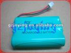 3.6V Ni-Mh battery pack300mah/600mah/750mah/800mah/850mah/1600mah/2000mah