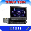 universal single din 7 inch car gps dvd player with digital touch screen