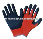 RSG017 Crinkle Or Smooth Finished Surface Safety Latex Working Gloves