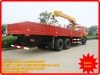 dongfeng 6*2 10 tons with 3 arms straight crane truck