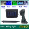 100 LED RGB Solar Fairy string Lights for Garden Party Christmas