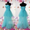 fashion satin net beaded evening gown ES3163