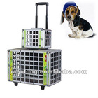 Aluminum Pet Flight Case with Trolley