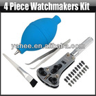 4 Pieces Watchmaker Kit Watch Repair Set Jewelry Hand Tools Parts Accessories, YFT395A