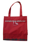 Factory red 420D nylon shopping bag handle children lunch bag pink feed tote bag