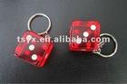 transparent dice key chain