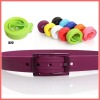 Premium quality fashion silicone belts