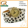 100047 Hot 2013 animal print leather band wrap watch