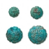 turquoise carved round beads