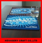 3D rubber soft pvc OEM logo bar mat