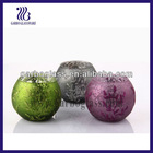 2012 Christmas Series Round Ball Glass Candle cup