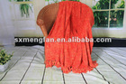 100%polyester space dye superfine yarn shawl patterns