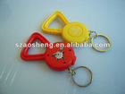 Golden medal LED keychain light