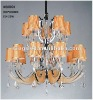 Modern hanging crystal chandelier for lobby