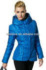 Women's Stand Collar Hooded Zip-up Double-breasted Solid Stylish Slim fit Winter Down Jacket