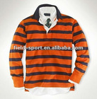 Stock lot mens long sleeve shirt, mens striped polo T shirt, cotton shirtts