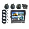 9 Inch Quad LCD Stand Alone Monitor with 4 Images and SunVisor and 4 Truck or Bus Cameras (UN-MC-T90SV-4)