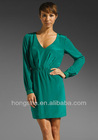 Emerald Carefree Silk Dress HSM8101