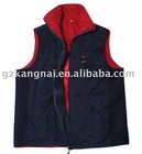 100% poly navy vest jacket/enterprise custom vest