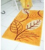 New!!!gold background leaf pattern relveteen embroidery floor carpet/rug