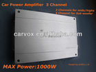 3 Channels car AB class MOSFET power amplifier