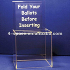 Transparent acrylic ballot box with lock and key