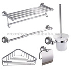 Stainless metal towel rack
