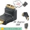 90 degree HDMI adapter 19 pin ,male to female